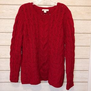 Coldwater Creek Chunky Cable Knit Sweater - XL